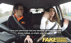 A thick woman with big tits takes her first driving license class but the bitch is so stressed about driving a car so decided to fuck the instructor to feel better. Free porn xvidios
