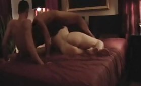Here is a bisexual homemade video featuring two horny guys and a slut. At first, they have oral sex in 69 position with greedy blowjobs and deep pussy licking. Then the whore gets fucked in her pussy and ass in double penetration.