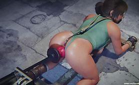 Hentai tanpa sensor dari payudara besar Lara Croft di perbudakan dan disumpal mendapat penetrasi ganda oleh mesin bercinta sampai mengisinya dengan jus vaginanya