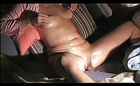 Getting old does not mean losing the fun part of life; this mature amateur voyeur whore gets her legs wide open and masturbates with a dildo