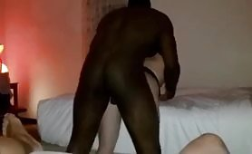 Amateur cuckold man watches his own hotwife getting a hardcore doggy style fuck and jerks off horny with all the hot scene
