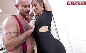 A lady had her soft and big ass slapped by a guy, and then she sucks his cock. Apart from the blowjob, there is also hot vaginal and anal sex.